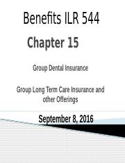 PPT15 Group dental and Long Term Care