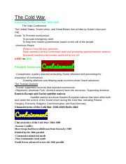 The Cold War Study Guide [With Color].docx