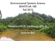 Lecture 2 - Systems _Ch. 3_ and Energy _Ch. 2_