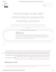 The Ultimate Guide_ SAP HCM & Payroll options for existing customers.pdf