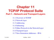 Chapter 11 - TCPIP Protocol Suite Part I - Network and Transport Layers