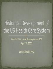 History of US Health Care System_Spring 2017