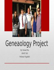 Geneaology Project.pptx