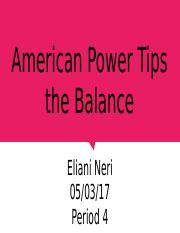 American Power Tips the Balance.pptx