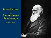 Evolutionary Psychology Lecture Notes