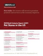 45391 Pet Stores in the US Industry Report