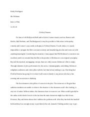 Field of Dreams Film Paper 4