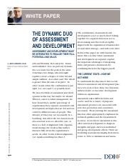 The Dynamic Duo of Assessment and Development WP DDI.pdf