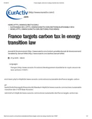 France targets carbon tax in energy transition law _ EurActiv.pdf