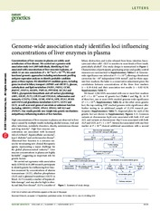 Nature Genetics 2011 Genome-wide association study identifies loci influencing concentrations of liv