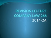 REVISION LECTURE 2014-2A