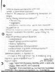 COM100 Intro to Comm Notes
