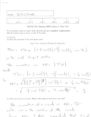 Math 2415 Midterm Version 5 and Solutions