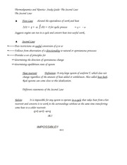 Thermodynamics and Kinetics- Study Guide- The Second Law
