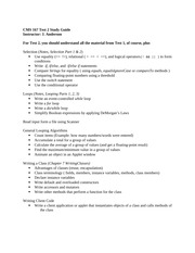 CMS 167 Study Guide Test 2 Fall 2013