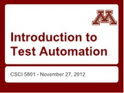 Test Automation Lecture (1)