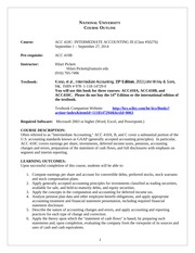 ACC 410C Course Outline September 2014