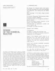 how to design a reactor pdf