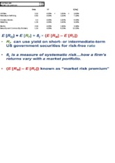 MAC 8254_Capital Asset Pricing Model(In class example)_6-14-13