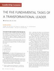 The_five_fundamental_tasks_of_a_Transformational_Leader