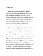 desdemonas handkerchief in othello essay