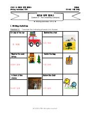 Lesson 2 Writing Activities and ER2 with Answers--