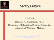 Wiegmann Safety Culture_Lecture