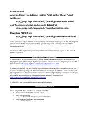 Plink Tutorial  pdf - PLINK tutorial Amended from two