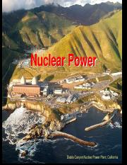 Lecture  20 - Nuclear Power Spring  2014