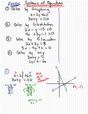 System of Equation Notes