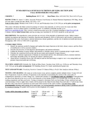 HUN2201 FALL 2011 Syllabus- FINAL