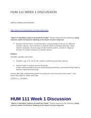 HUM 111 WEEK 1 DISCUSSION.docx
