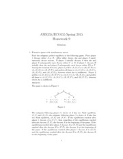 AMS335/ECO355 Spring 2015 Homework 9 Solution