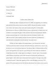 US History II short paper 'Birth of a Nation'