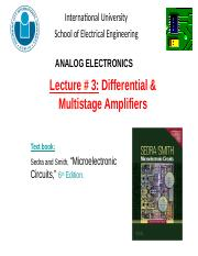 Lecture 3-Differential and Multistage Amplifiers