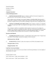 Principles of Finance- Assignment 3.docx