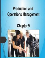 Chapter 9 - Operations Management.pptx