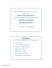 Stress & Strain Measurement