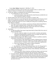 Jane Addams Resume Notes