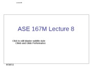 ASE 167M - Lecture 8