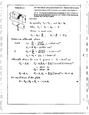 91_Mechanics Homework Mechanics of Materials Solution