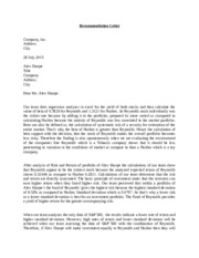 Recommendation Letter (R)
