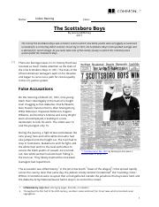 A The Scottsboro Boys trials showed the enormous degree of ...