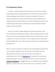 Week 1 Case Study 4.2 Supremacy Clause  4.7 Equal Protection Clause  (1).docx