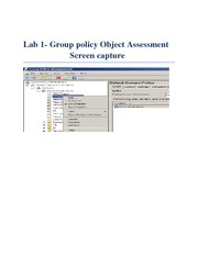 Lab 1Group policy Object Assessment Screen capture