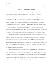 history study resources 6 pages christianity essay
