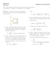 Introductory Physics II  Exam 2 fall 2012 solutions