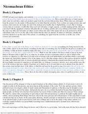 Astronomy 203_Lecture Notes on Nicomachean Ethics Book 1