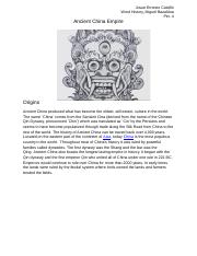 Josue Ernesto Castillo - Ancient China Empire.docx