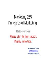 Class 4_Partnering to do Marketing_Company and Marketing Strategy_MAR255 Spring 2016